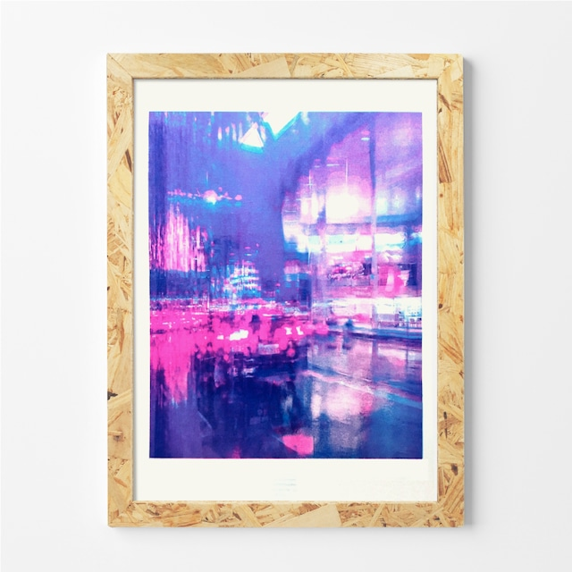 layered rain / Rolling  Mackey / 石引パブリック「リソアートプリント」シリーズ