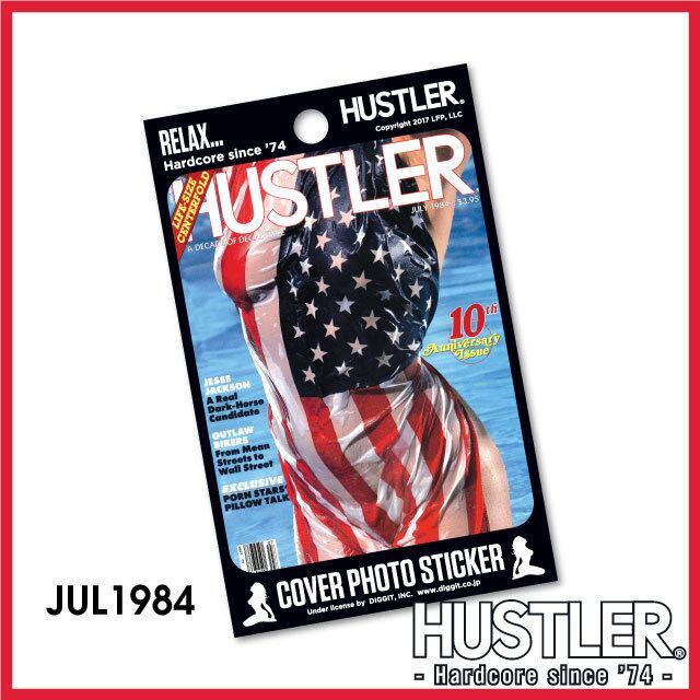 セクシー系金髪お姉ちゃんステッカー・HUSTLER COVER PHOTO STICKER (ハスラーカバーフォトステッカー) / 1984 JUL