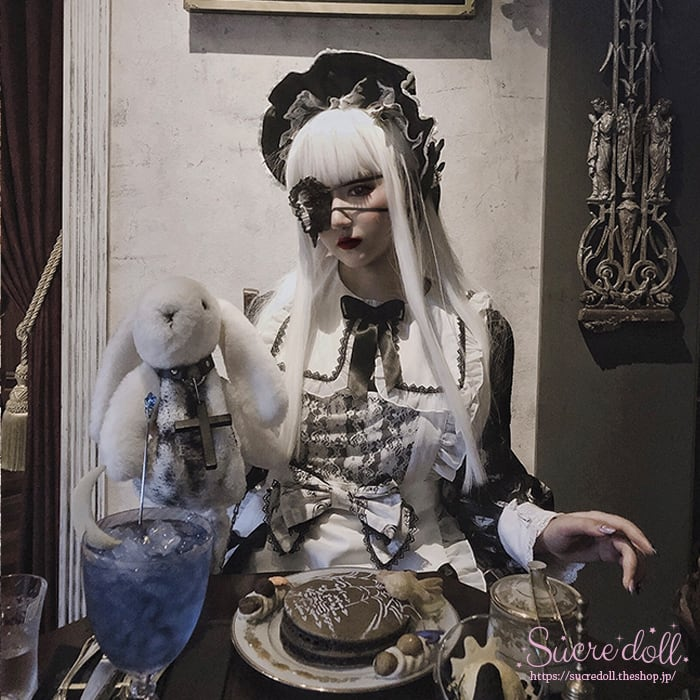 [2color] Dark maid  apron