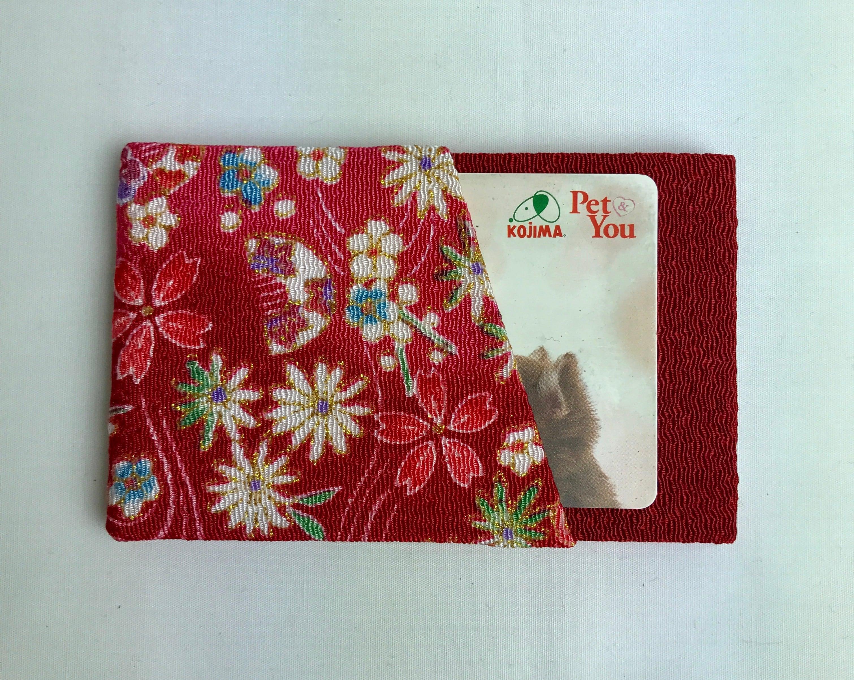 花ちりめんシンプルカード型カード入れ