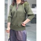 【RehersalL】puff sleeve commando sweater(olive drab) /【リハーズオール】パフスリーブコマンドセーター(オリーブドラブ)