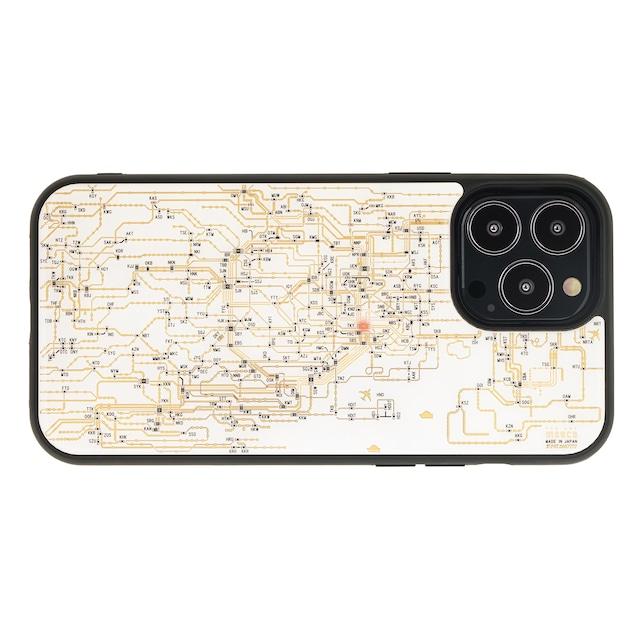 FLASH 東京回路線図 iPhone 13 Pro Maxケース 白【東京回路線図A5クリアファイルをプレゼント】