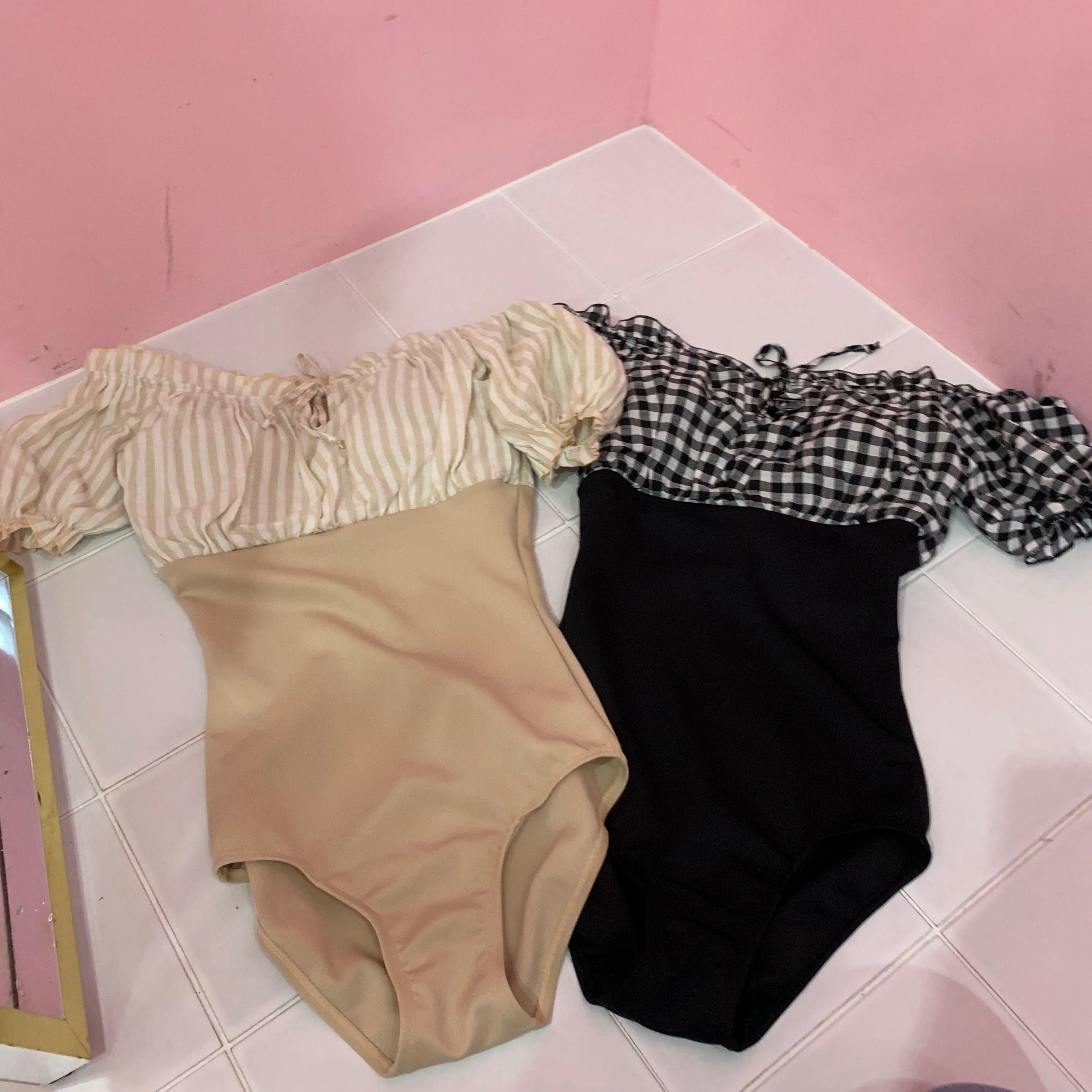 stripe op swim wear