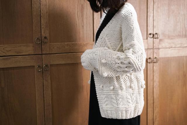 編どり屋 模様編みが楽しいカーディガン 編み物キット
