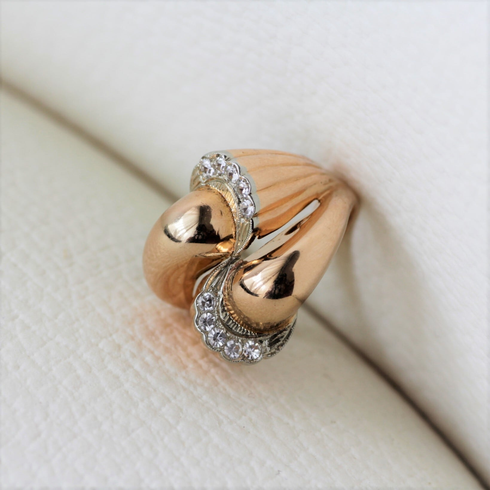 Gold & Diamond Cocktail Ring ゴールド&ダイヤモンド カクテルリング