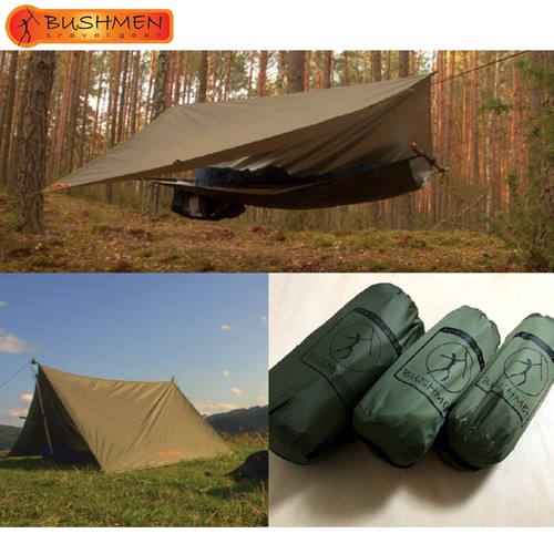 BUSHMEN ブッシュメン 3×2 THERMO-TRAP ハンモック 軽量 カラビナ パラシュート 耐水 レスキューシート タープ 自然派 キャンプ アウトドア