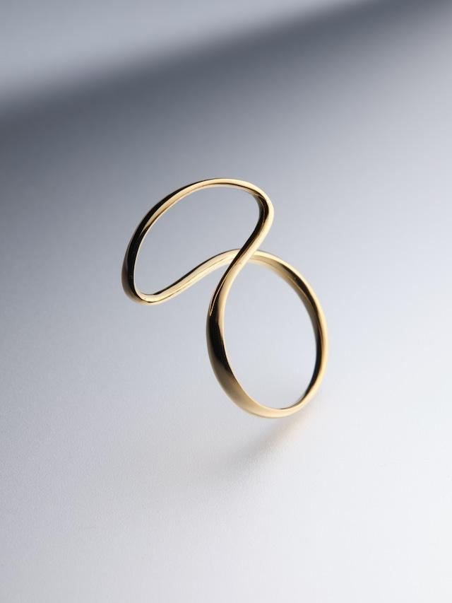 【K18plating】ribon ring M(CAAC-R036-2)