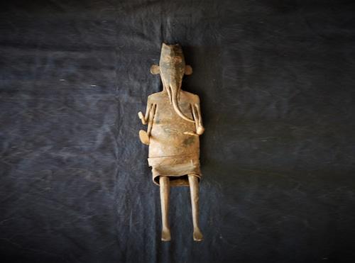 ガネーシャ 聖天腰掛像 歓喜天 プリミティブアート 聖天さん ヒンズー教