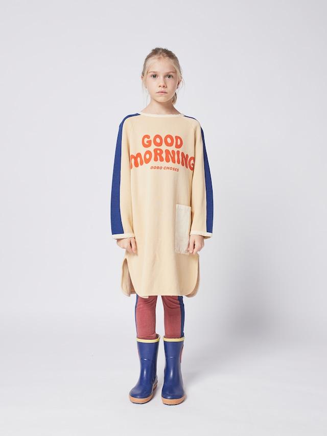 【21AW】bobochoses(ボボショセス)Good Morning fleece dress ワンピース
