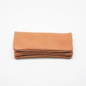 Yezo deer soft wallet tanned brown