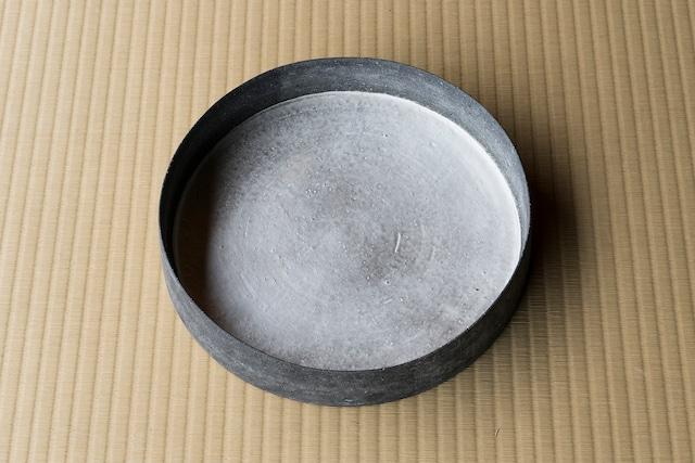 黒土銀彩銅羅鉢 / 大森健司