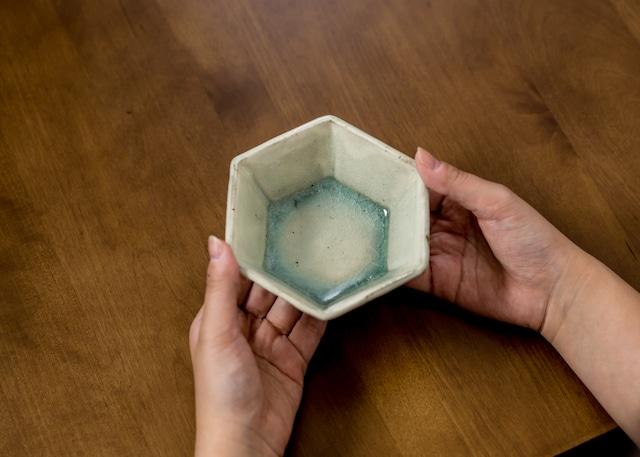 六角鉢 緑灰釉(小鉢)/くるり窯