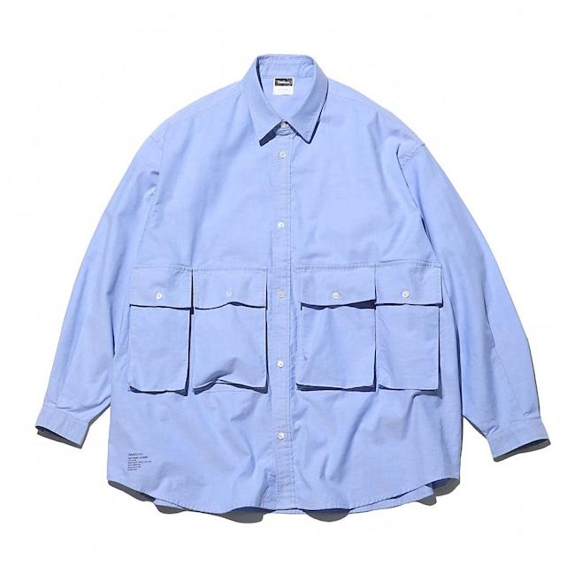 FreshService (フレッシュサービス) OXFORD FLAP POCKET L/S SHIRT 21AW (シャツ) ブルー