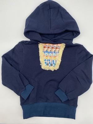ゾジオ(ZOZIO)  Maria hoodie[M/L ]刺繍 フリンジスウェット