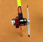 暑い季節必需品★K130用 テールモーター用ヒートシンク 120用を若干改造した冷却装置、カラー / 2色から選択可