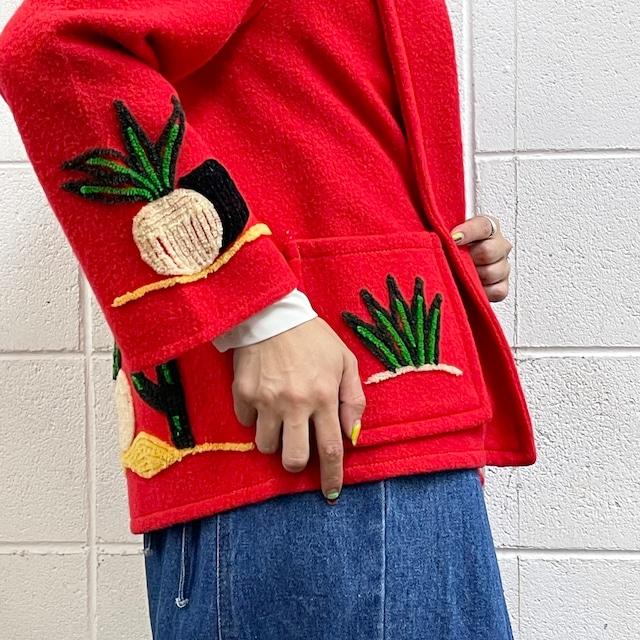 70年代 ヴィンテージ MEXICO製 サガラ刺繍 メキシカンジャケット レディース古着