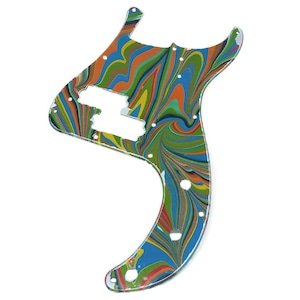 VARIOUS MARBLEIZED PICK GUARD SERIES - 50s P-type  Only One Design - ベース用マーブルピックガード pa3-1