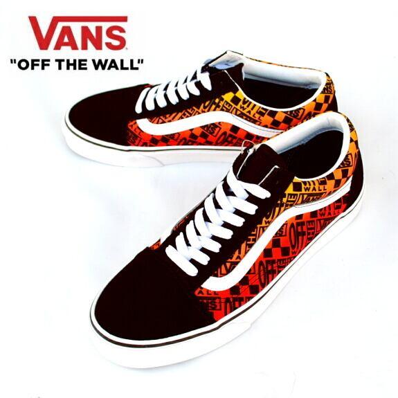 VANS バンズ ヴァンズ オールドスクール スニーカー メンズ Old Skool (LOGO FLAME) BLACK/TRUE WHITE