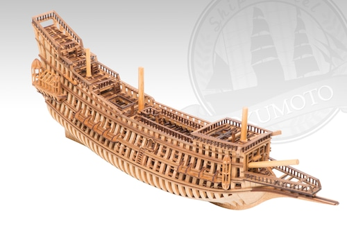シップモデル奥本 帆船構造模型キット ラ・クローン号 1/123