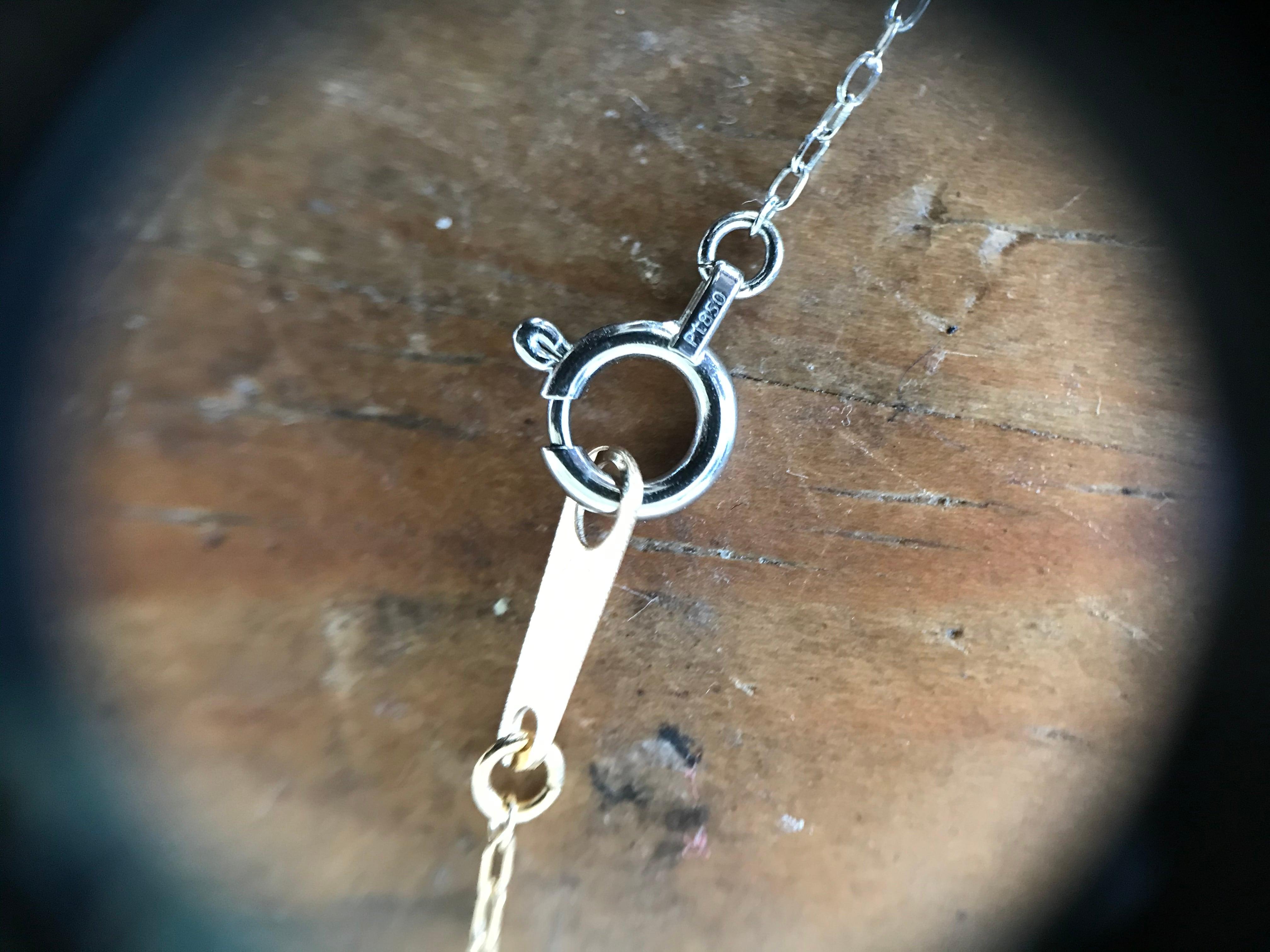 Pt/K18Diamond necklace