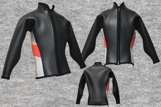 ダイビングフラットスキン3mm長袖ジャケット立衿(フルオーダー料込)wsm1710dfs