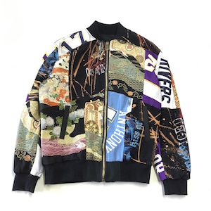 着物リメイクボンバージャケット KIMONO BOMBER JACKET  kimonobomberjk03