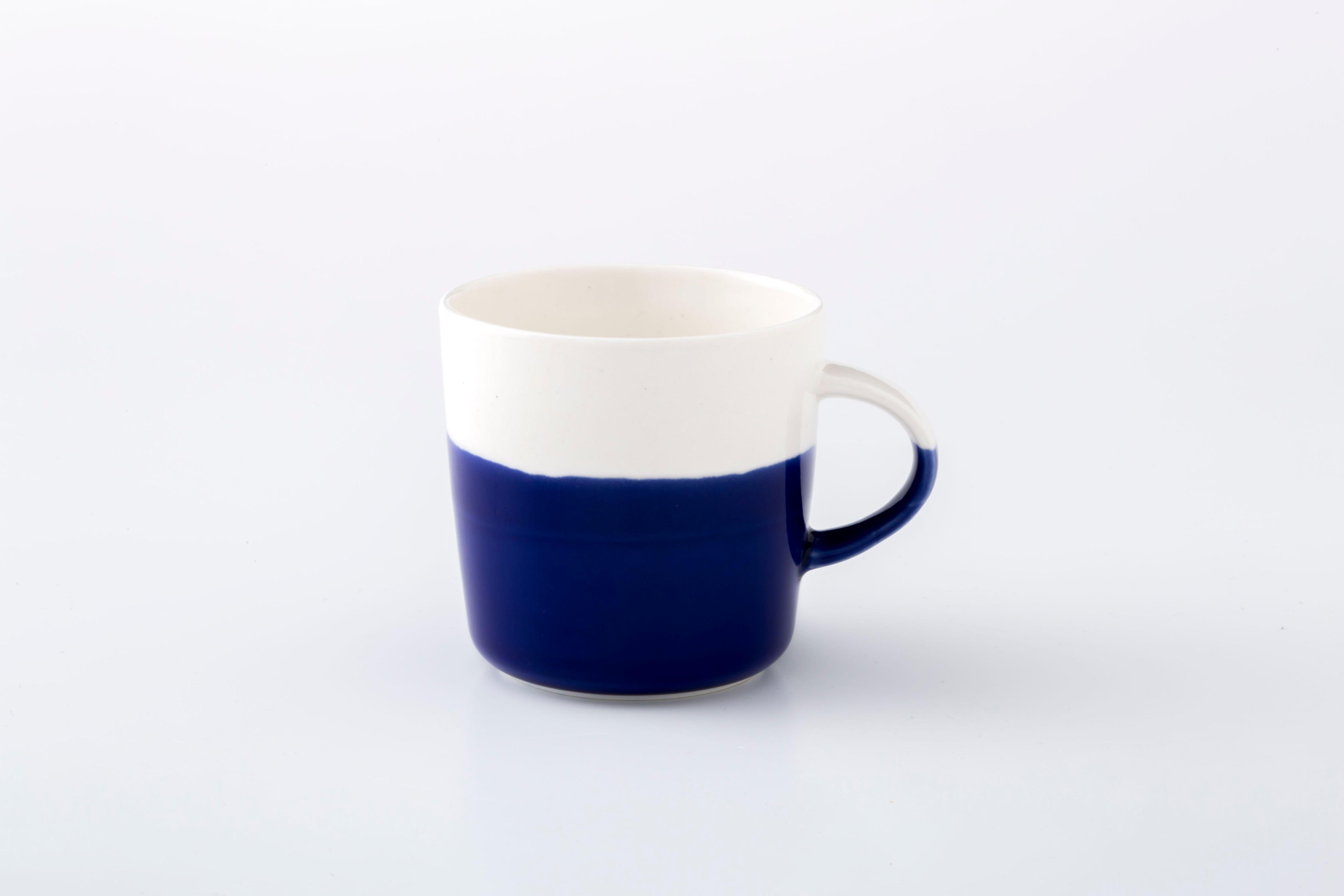 マグカップ:M (透明×ラピスラズリ) / 前野 達郎