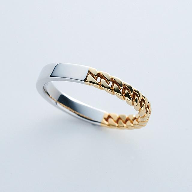 3mm Combination Ring #16-#23 / Pt900 & K18YG