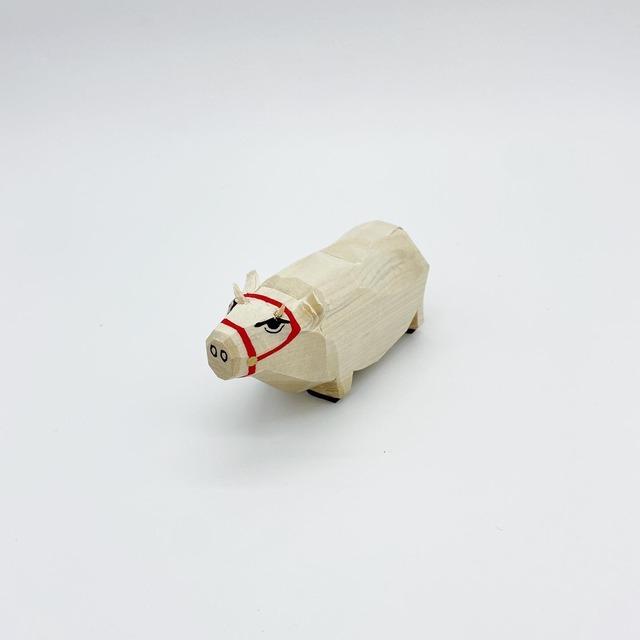 笹野一刀彫 干支人形|丑 3寸