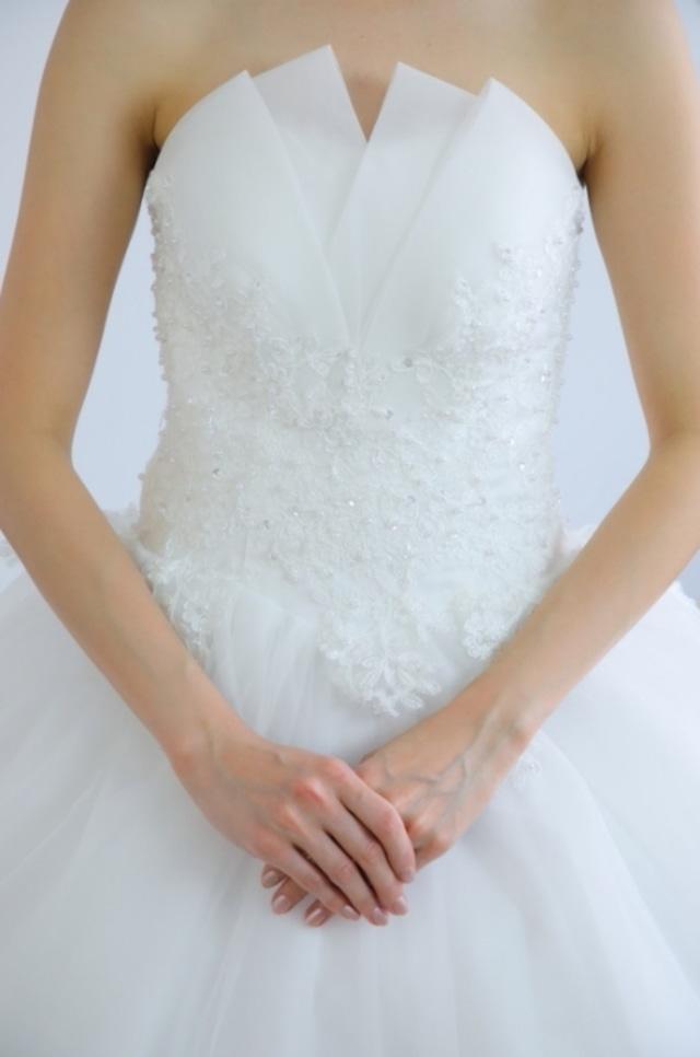 ウェディングドレス クラシカルチュール ビスチェ 結婚式 二次会 花嫁ドレス 海外挙式 フォトウェディング【WE-4】