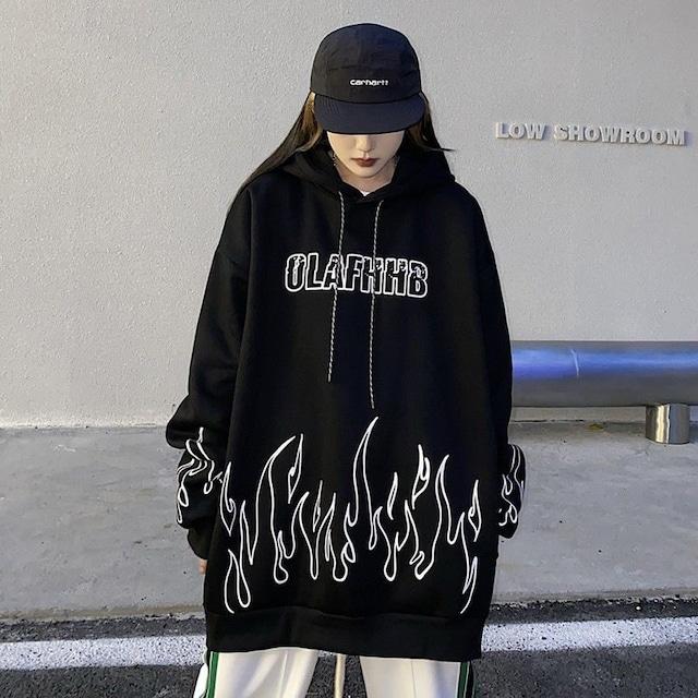 【トップス】ファッションルーズプリントアルファベットフード付きパーカー53527093