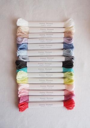 Sunny thread box set   オーガニックコットン 刺繍糸 基本の15色セット 箱入り