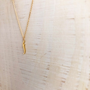 18k initial 'f' necklace / Belleza by n