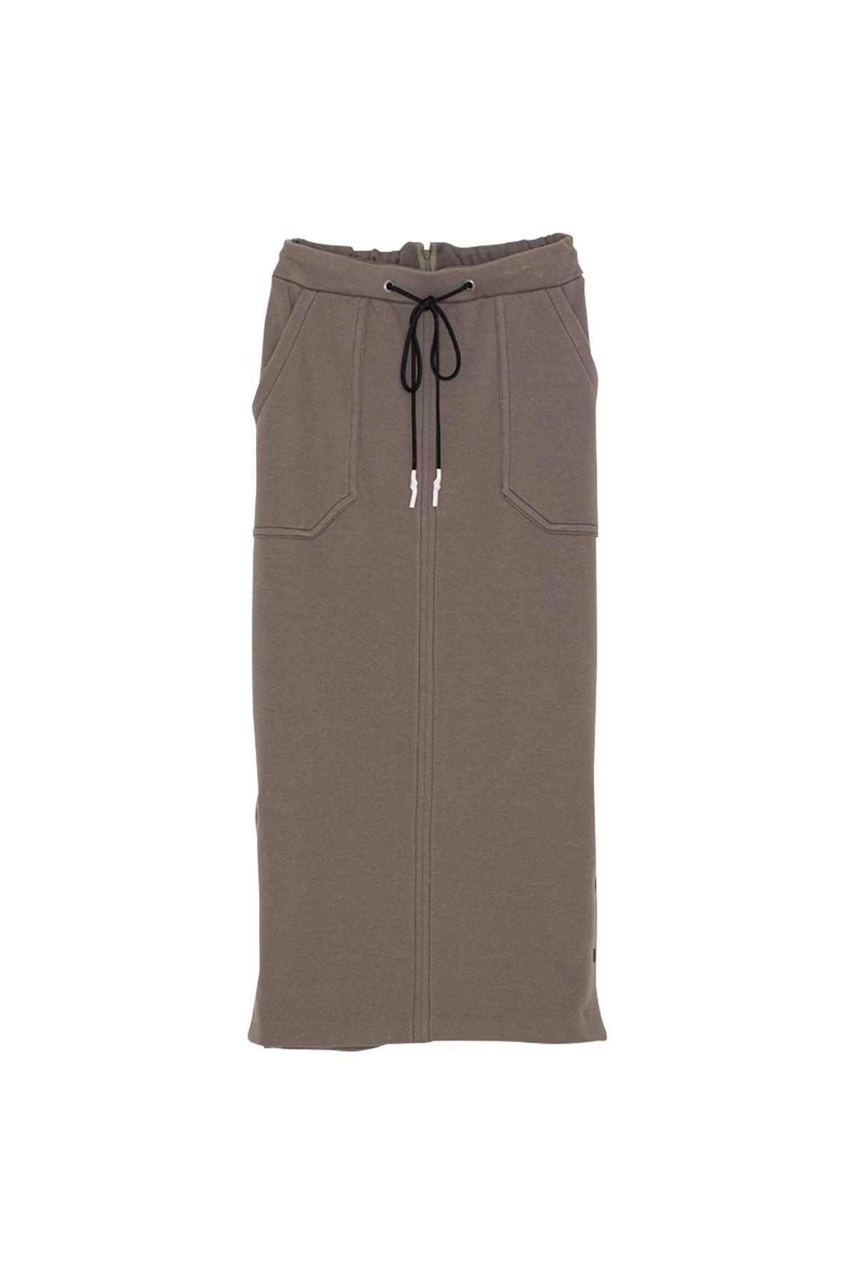 ソフトサーモジャージースカート< khaki >