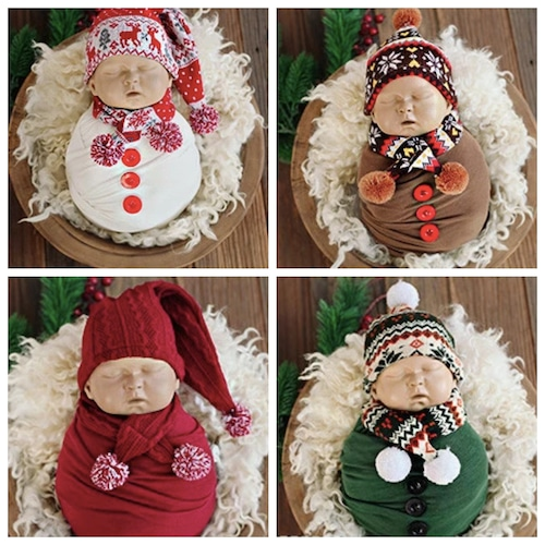 おくるみセットのマフラー&帽子セット♡5カラー