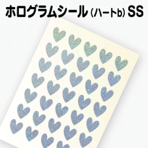 【ホログラム ハートシールB 】SS(1.4cm×1.5cm)