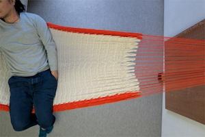 """ハンモック  """"Bed-mock""""  ( Plain × Orange line )    Size-S  (180cm)"""