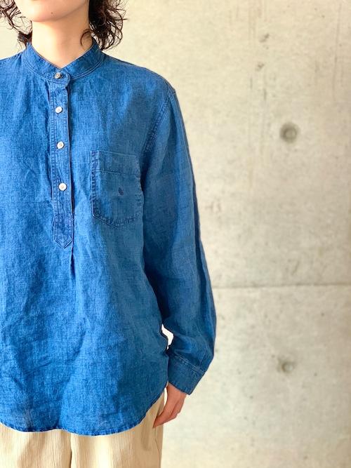 Vintage Ralph Lauren Indigo Linen Pullover Shirt