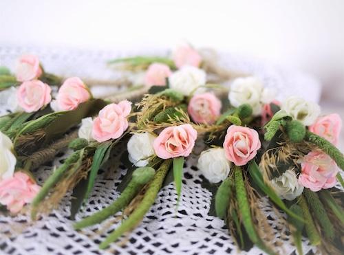 ブライダルブローチ 麦と薔薇  Ansteckblumen Hochzeit