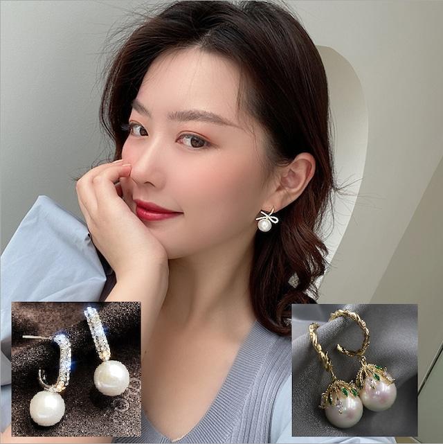 真珠の耳リング  YN3011