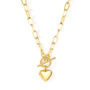 Heart Toggled Necklace【GOLD】