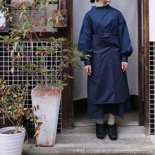 ASEEDONCLOUD/アシードンクラウド hyoryushi wrap skirt #212402 Navy