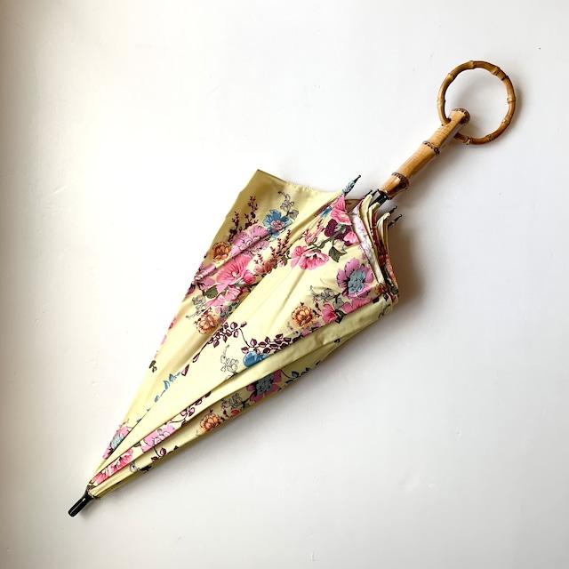 北欧デザイン日傘(晴雨兼用)| ショートタイプ持ち手輪 | yellow flower