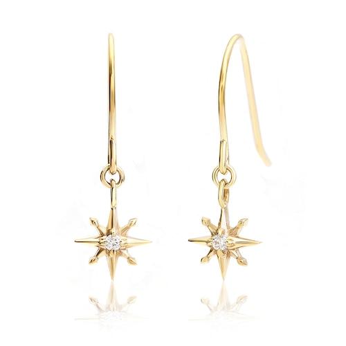 K10 SunMotif pierces/earrings
