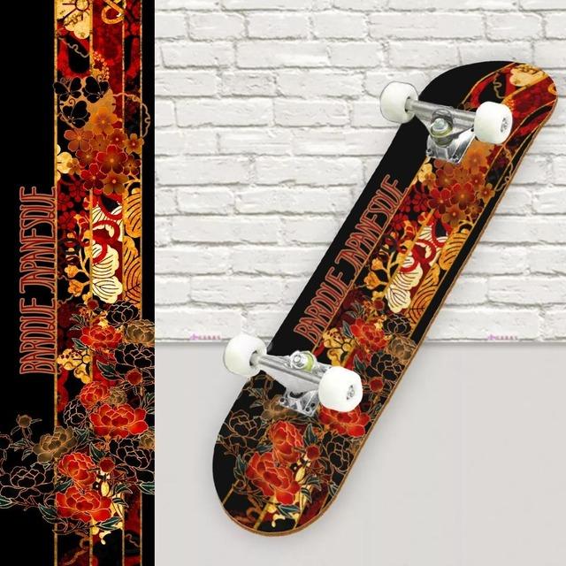 牡丹家紋蝶家紋ライン スケートボード裏面保護シート