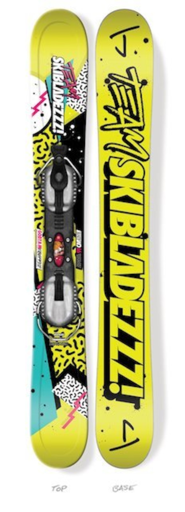 "J skis - ""TEAM SKIBLADEZZZ"" スキーブレード"