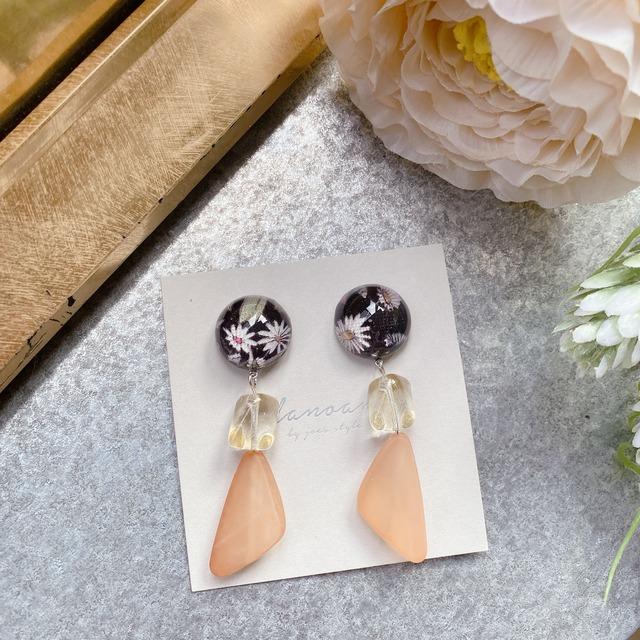 """"""" Earrings NO.danoan-98″ リバティとチェコビーズ"""