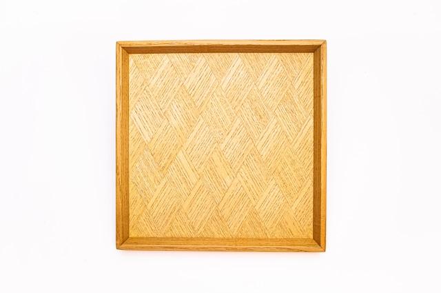 菱形模様 正方形のトレー 0322