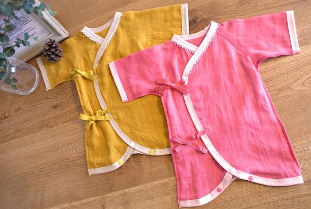 低出生体重児(未熟児)肌着 2点セット ピンク/イエロー