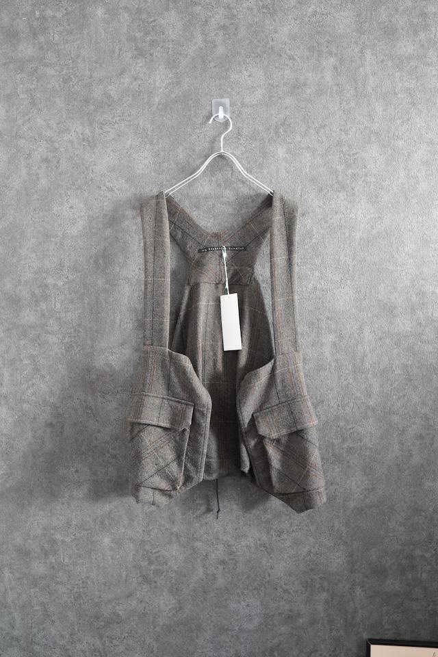 【Special price 60%OFF】  my beautiful landlet herringbone wool backpack vest beige or brown